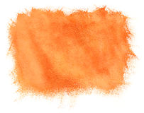 Painted watercolor orange background Stock Photography