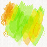Painted Watercolors. Colorful watercolor art background design painted in bright vivid colors of green, orange and yellow vector illustration