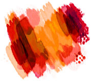 Painted Watercolors. Colorful watercolor background design painted in bright vivid colors of reds, pinks, and orange royalty free illustration