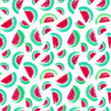 Painted Watermelon Pattern Brush Strokes Royalty Free Stock Photography