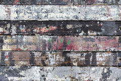 Painted weathered wood Stock Image