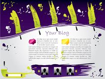 Painted website template Stock Photo