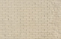 Painted White Brick Wall Background Stock Photography