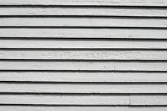 Painted white slats Stock Images