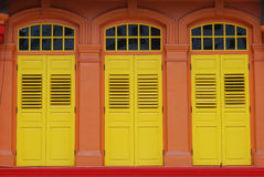 Painted Window Shutters Stock Photos