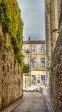 Painted Windows- Avignon, France Stock Photo