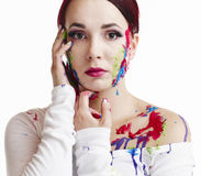 Painted woman Royalty Free Stock Images