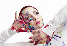 Painted woman Stock Image