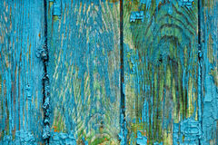 Painted wood deterioration Stock Images