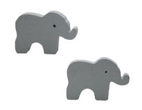 Painted Wood Elephants Stock Images