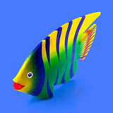 Painted wood fish Stock Image