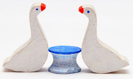 Painted Wood Geese Stock Image