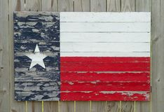 Painted Wood Texas Flag Stock Photo