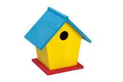 Painted Wooden Birdhouse Royalty Free Stock Images