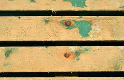 Painted wooden boards with nails Royalty Free Stock Image