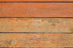 Painted wooden boards with nails Royalty Free Stock Images
