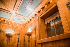 Painted wooden ceiling Stock Photography