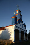 Painted wooden church in Chiloe Royalty Free Stock Image