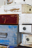 Painted wooden drawers Stock Photography