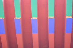 Painted wooden eaves Royalty Free Stock Image
