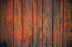Painted wooden fence background Royalty Free Stock Images