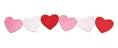 Painted wooden hearts Stock Photo