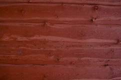 Painted Wooden House Wall Background Stock Photo