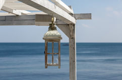 Painted Wooden lantern Stock Photos