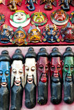 Painted Wooden Masks Royalty Free Stock Image