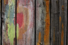 Painted wooden planks. Horizontal royalty free stock photo