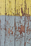 Painted wooden planks Royalty Free Stock Image