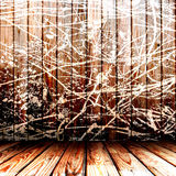 Painted wooden wall Stock Image