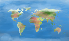 Painted  World Map Stock Photos