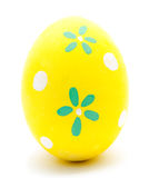 Painted yellow easter egg isolated Royalty Free Stock Photography