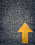 Painted Yellow Road Arrow Royalty Free Stock Photos