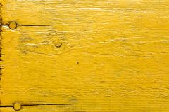 Painted yellow wooden desk Royalty Free Stock Photography