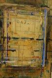 PainterÂ的委员会飞溅与颜色背景15 库存例证
