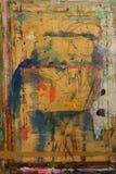 PainterÂ的委员会飞溅与颜色背景14 库存例证