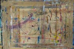 PainterÂ的委员会飞溅与颜色背景11 库存例证