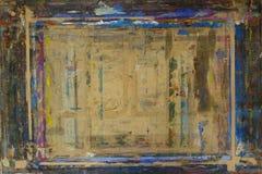 PainterÂs bräde som plaskas med färgbakgrund 5 Arkivfoto