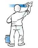 Painter. Paint paintbrush painter renovating craftsman Stock Images