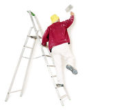 Painter. At work on white background Stock Photo