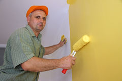 Painter in action Royalty Free Stock Photos