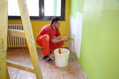 Painter in action Royalty Free Stock Images