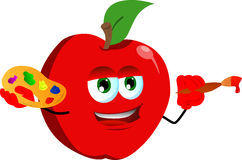 Painter apple Royalty Free Stock Images