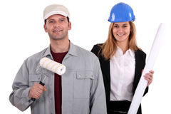 Painter and architect Stock Photos