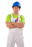 Painter with arms crossed Stock Photos