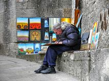 Painter artist in San Marino Stock Images