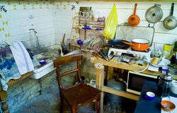 Painter artist studio Stock Photo
