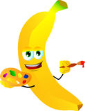 Painter banana Stock Photography